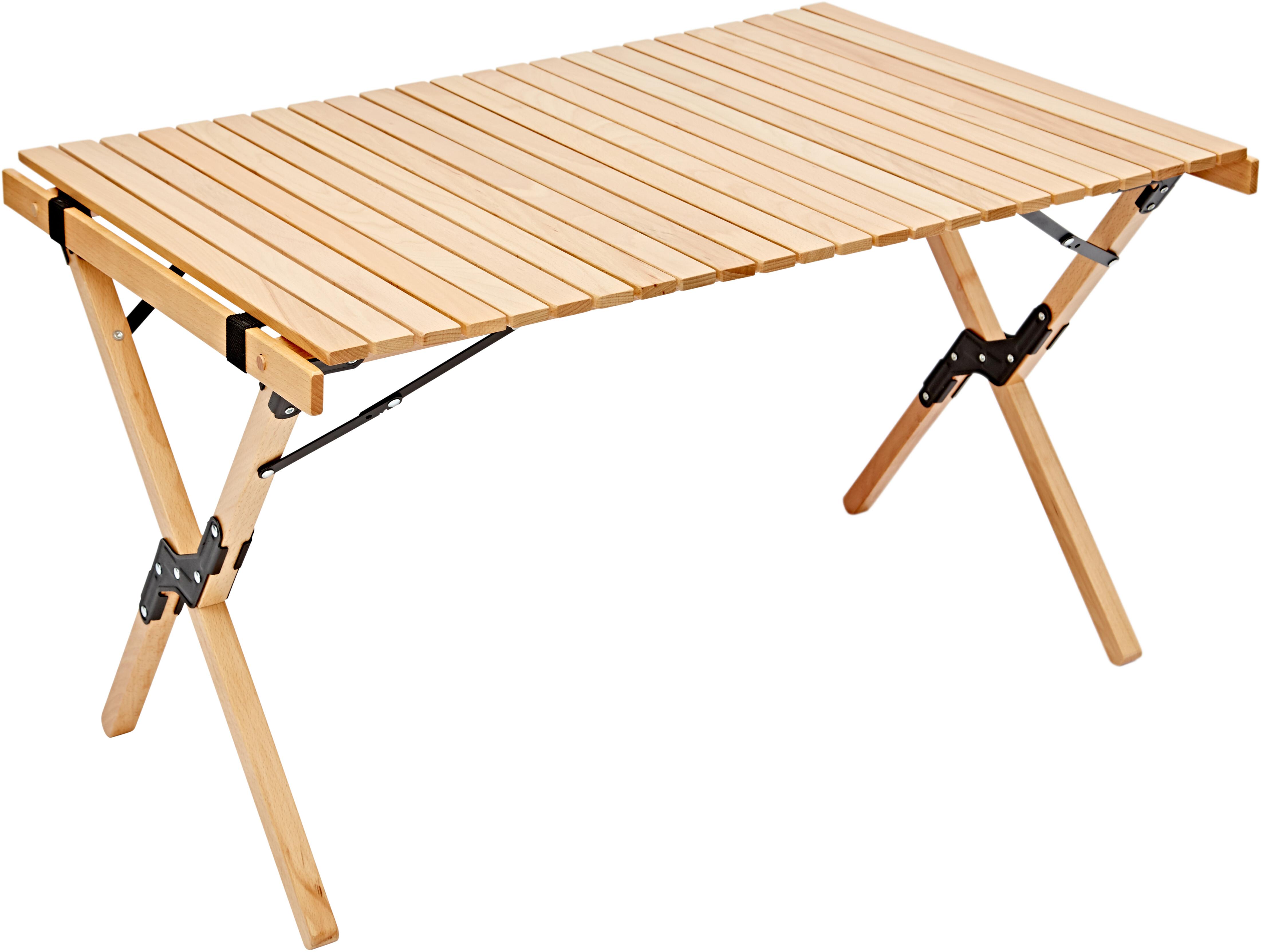 Tavolo Pieghevole Di Legno.Campz Tavolo Pieghevole In Legno Di Faggio 90x60x53cm Brown Su